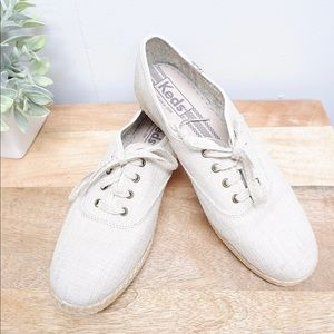 KEDS NATURAL LACE UP CANVAS SNEAKERS- BRAND NEW 🌿